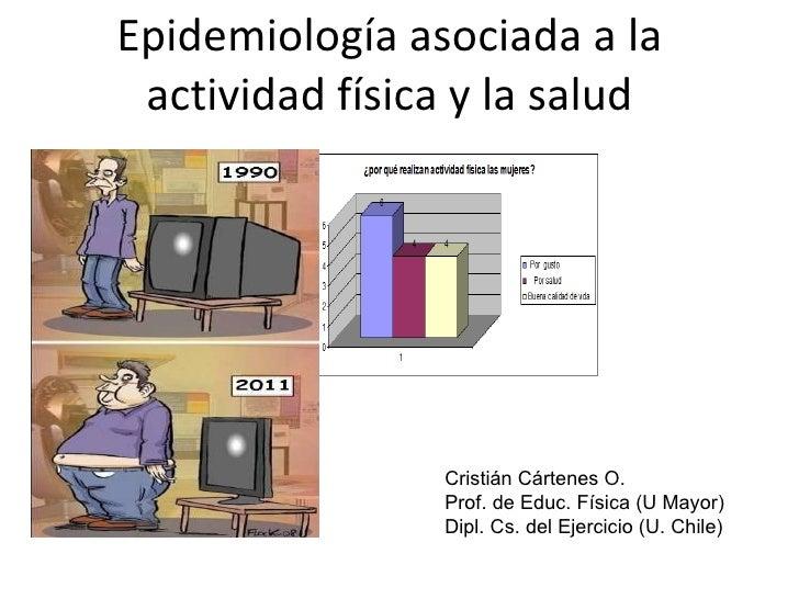 Epidemiología asociada a la actividad física y la salud Cristián Cártenes O. Prof. de Educ. Física (U Mayor) Dipl. Cs. del...