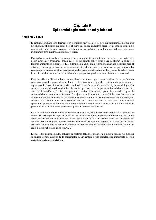 Epidemiologia ambiental y_laboral