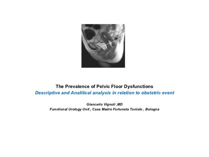 Epidemiologia della disfunzione perineale vignoli