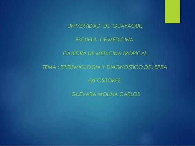 Epidemiologia y diagnostico de lepra