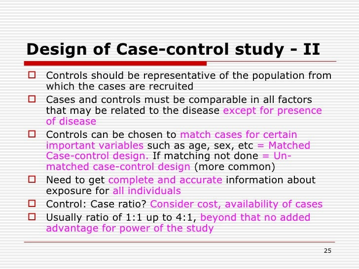case control studies bias Bias in case-control studies a review membership in the population at risk is now defined only conditionally on a hypothetical event, it cannot be determined with.