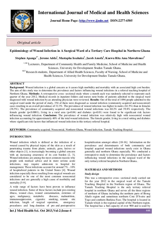 International Journal of Medical and Health Sciences Journal Home Page: http://www.ijmhs.net ISSN:2277-4505  Original arti...