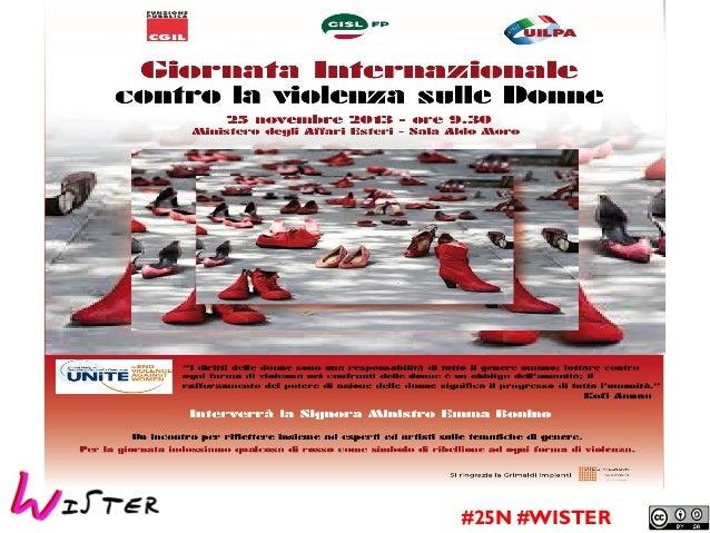 La nuova frontiera della violenza 2.0  #25N #WISTER