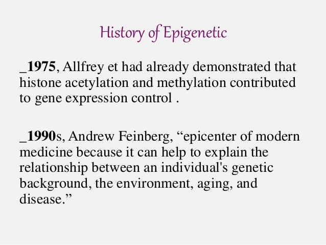 an introduction to epigenetics Introduction to epigenetics covering dna packaging, types of epigenetic  modifications, epigenetics, the environment and disease as well as epigenetic  therapy.