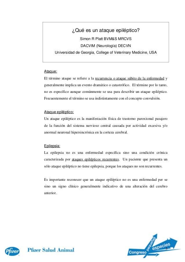 ¿Quéesunataqueepiléptico?                           SimonRPlattBVM&SMRCVS                            DACVIM(Neuro...