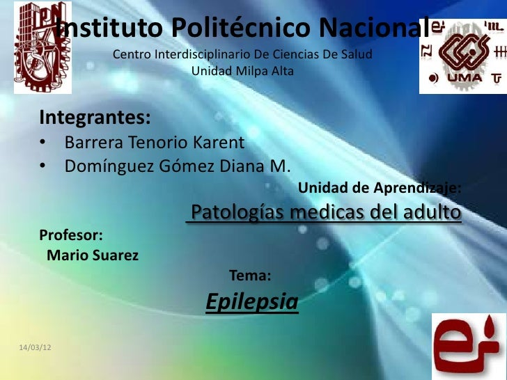 Instituto Politécnico Nacional               Centro Interdisciplinario De Ciencias De Salud                             Un...