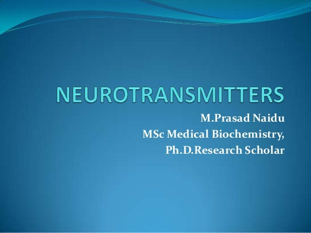 M.Prasad Naidu MSc Medical Biochemistry, Ph.D.Research Scholar
