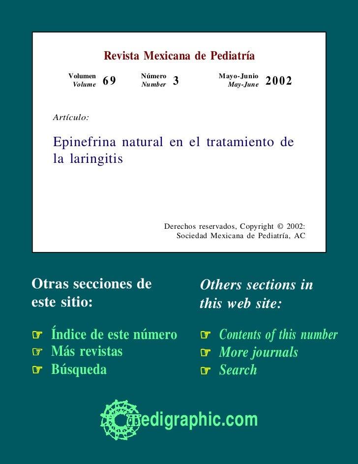 Revista Mexicana de Pediatría      Volumen          Número             Mayo-Junio       Volume   69     Number   3        ...