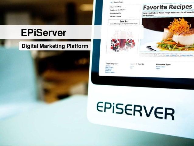 EPiServerDigital Marketing Platform