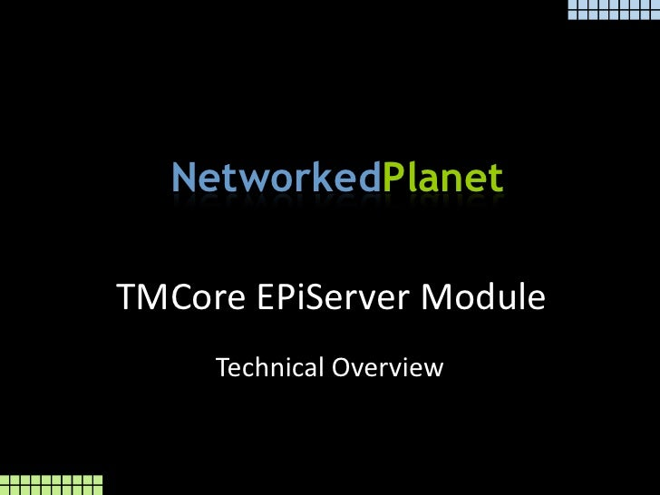 EPiServer Module Technical Overview