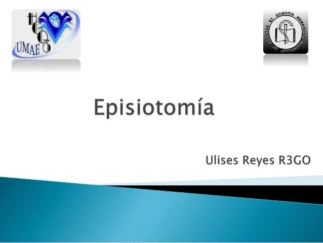 """Episiotomía: del griego ἐπίσιον """"pubis"""" y τόμος """"corte""""  Incisión quirúrgica del periné femenino que se realiza en el mom..."""