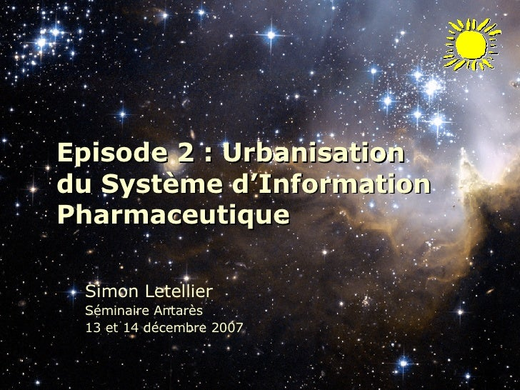 Episode 2 - Urbanisation du SIPh