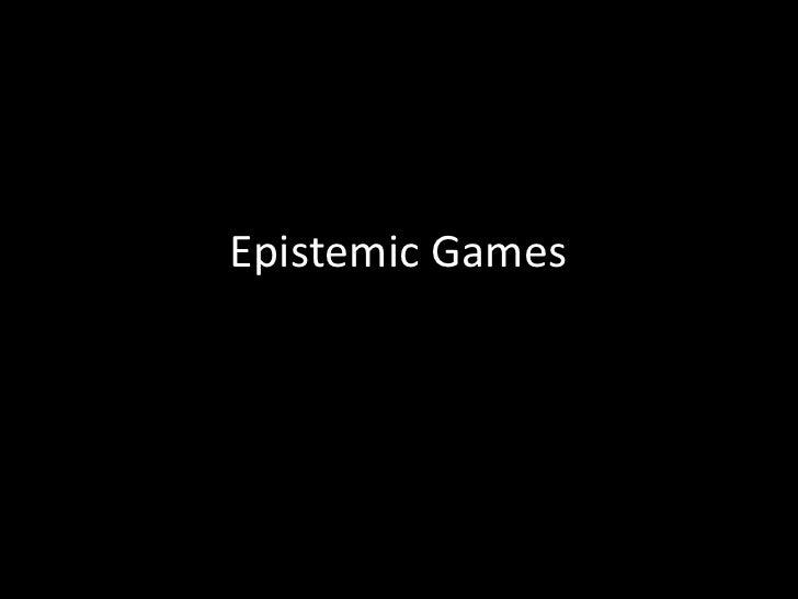 Epistemic Games