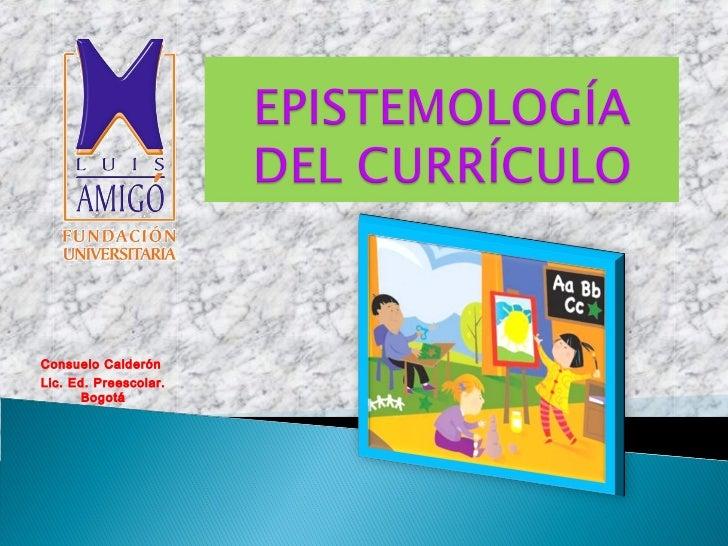 Epistemología del currículo