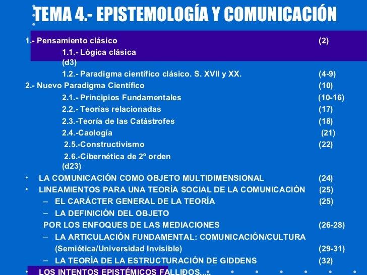 Epistemología y comunicación