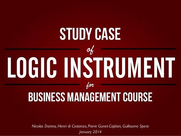 EPITECH Paris — Business Management   Case study of Logic Instrument
