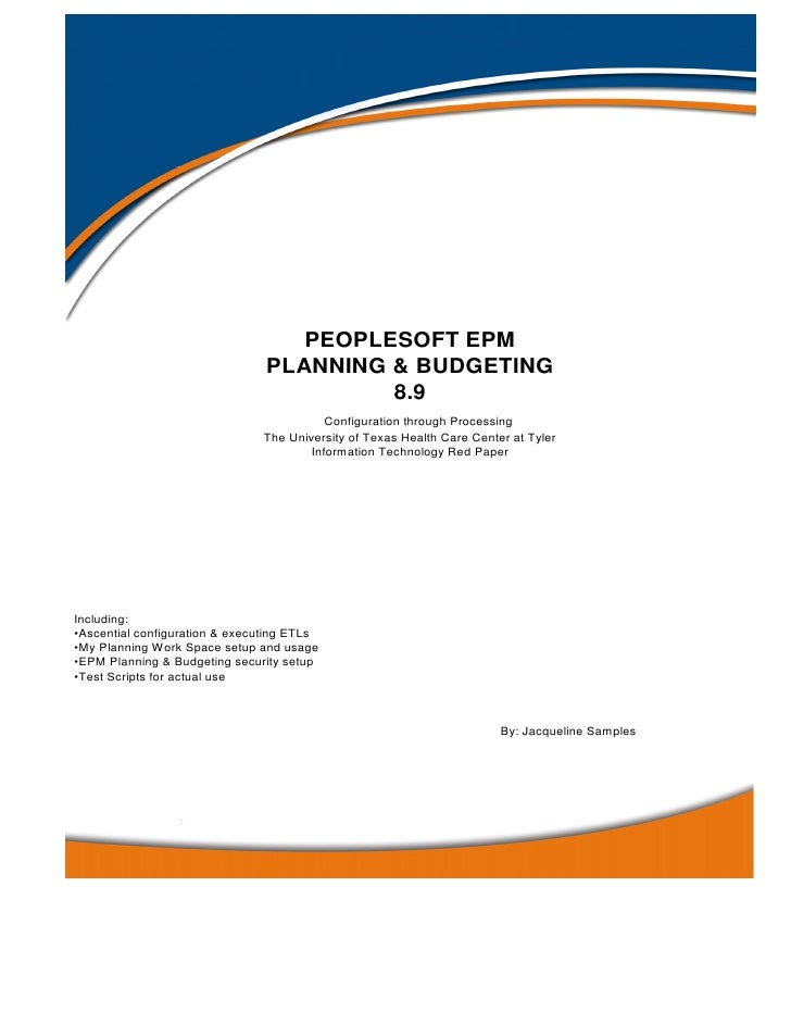 EPM Planning & Budget Red Paper