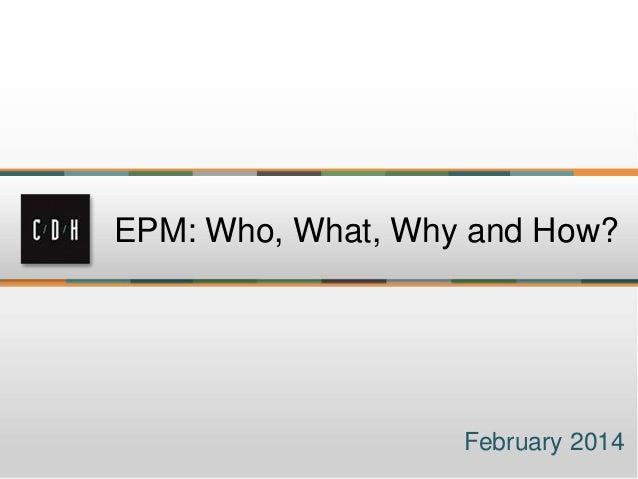 Epm seminar presentation
