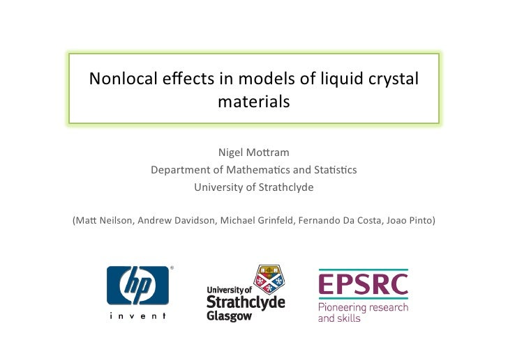 Nonlocal effects in models of liquid crystal materials
