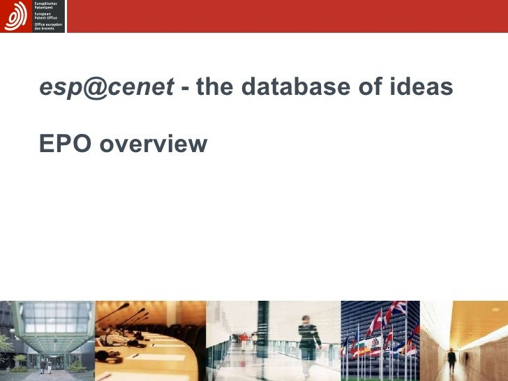 [email_address]  - the database of ideas EPO overview