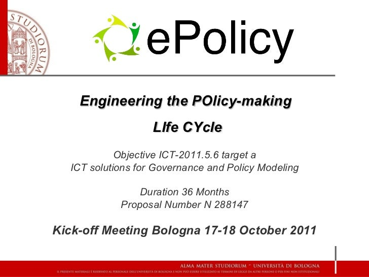 ePolicy  - Engineering the POlicy-making LIfe CYcle