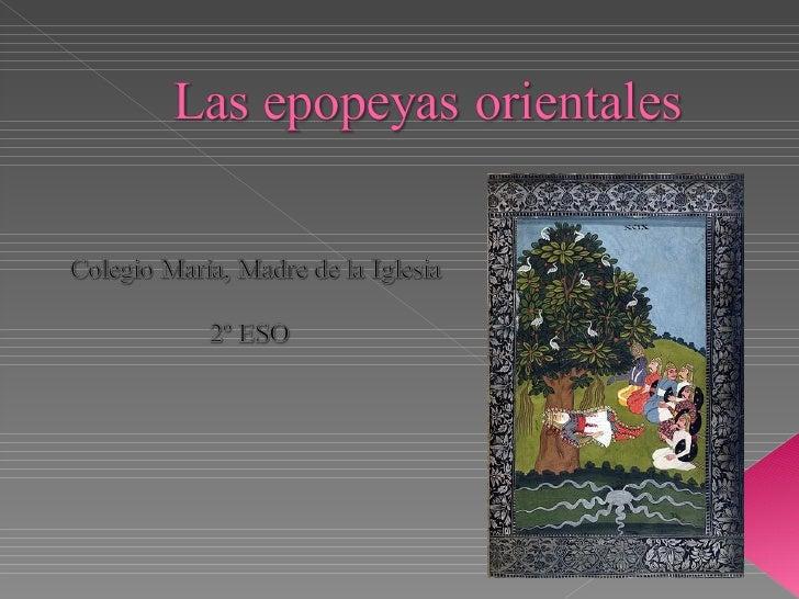 Epopeyas orientales