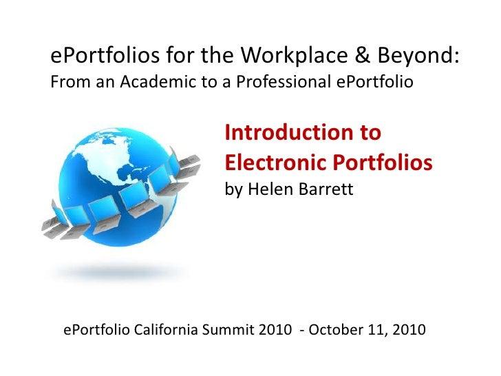ePortfolioCA Summit Helen Barrett