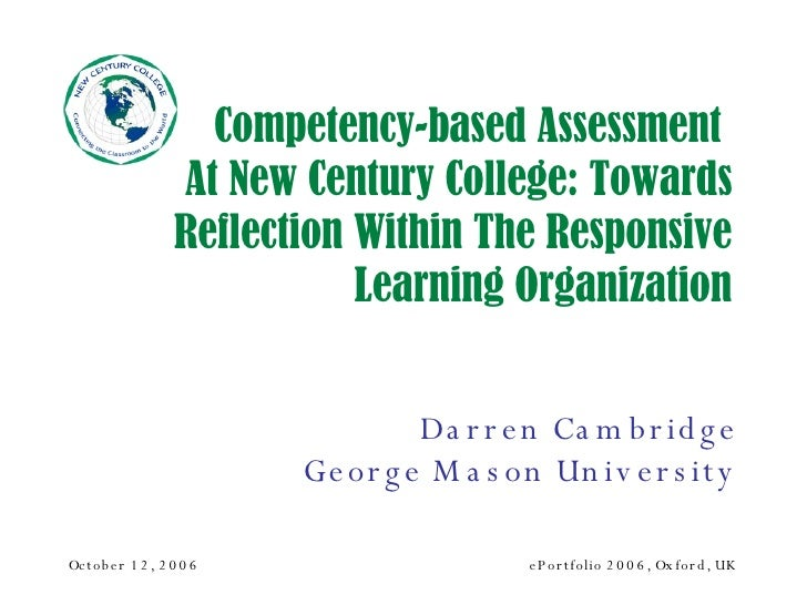 Competency-based Assessment at New Century College