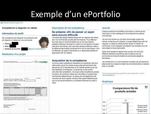 exemple de portfolio