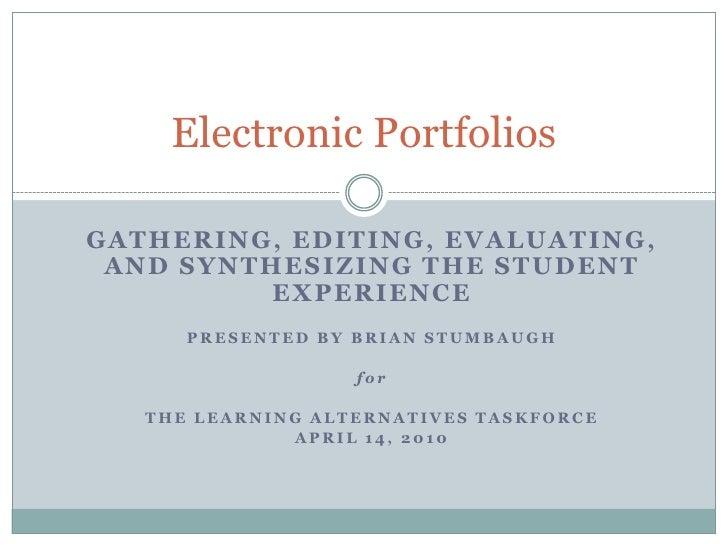 E portfolios: An Introduction