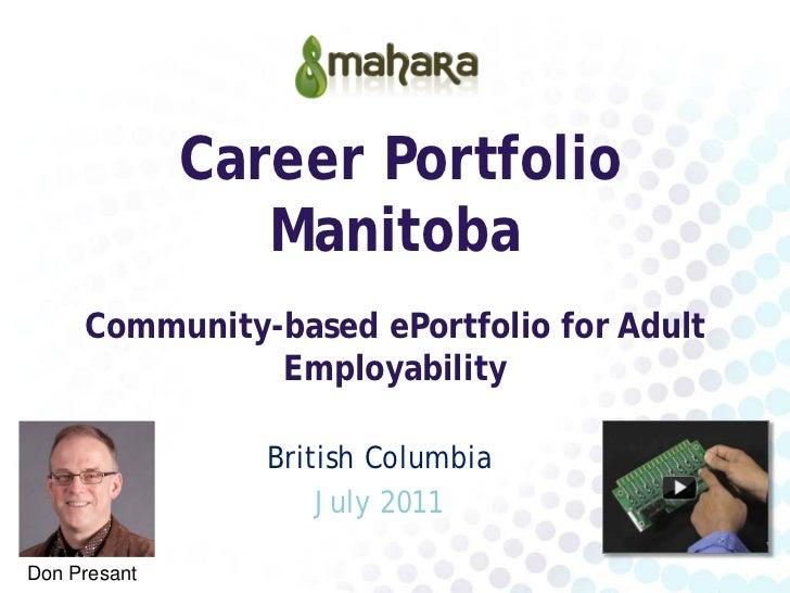 ePortfolios in the Community (BC) 2011