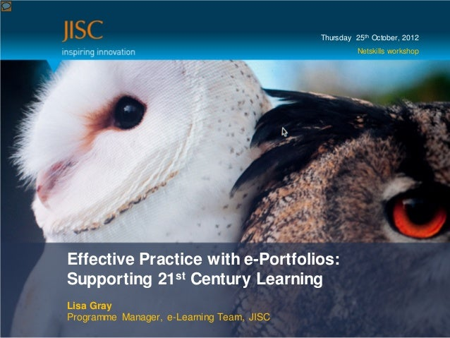 Lisa Gray (JISC) ePortfolios - October 2012