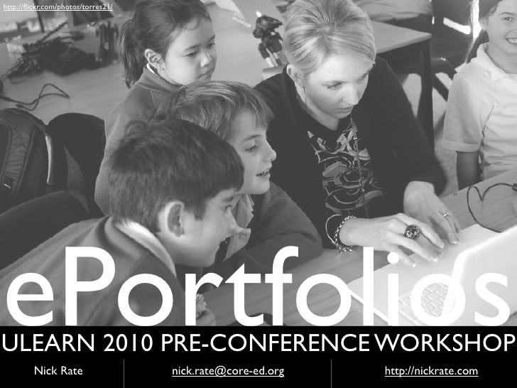ePortfolios ULearn Pre-conference 2010