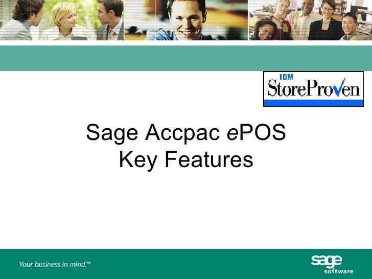 Sage Accpac - ePOS Features