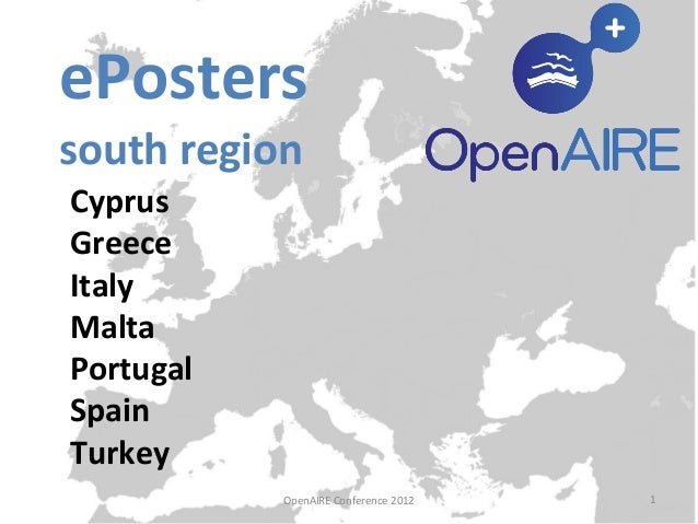 National ePosters (OpenAIRE South Region) - OpenAIRE Conference 2012