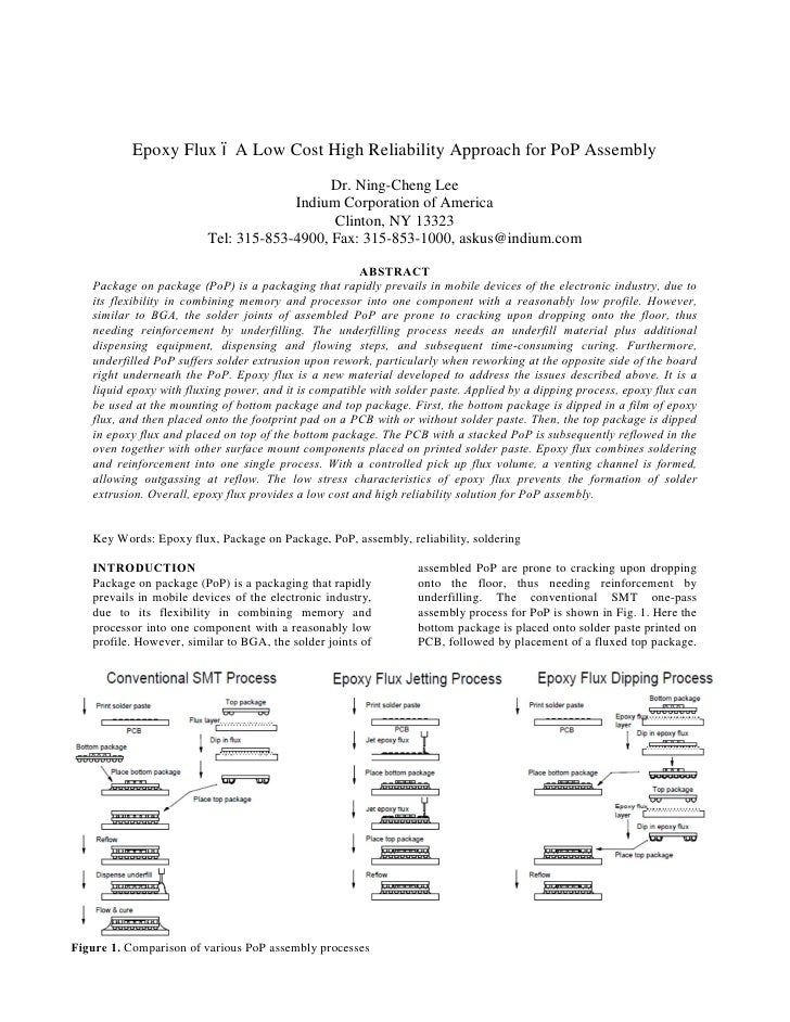 Epoxy Flux         A Low Cost High Reliability Approach for PoP Assembly                                            Dr. Ni...