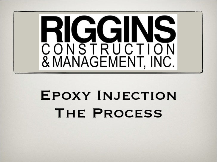 Epoxy Injection The Process