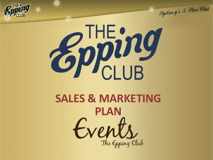 Sales & Marketing at The Epping Club