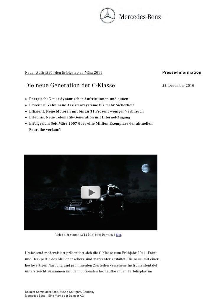 Neuer Auftritt für den Erfolgstyp ab März 2011                                      Presse-InformationDie neue Generation ...
