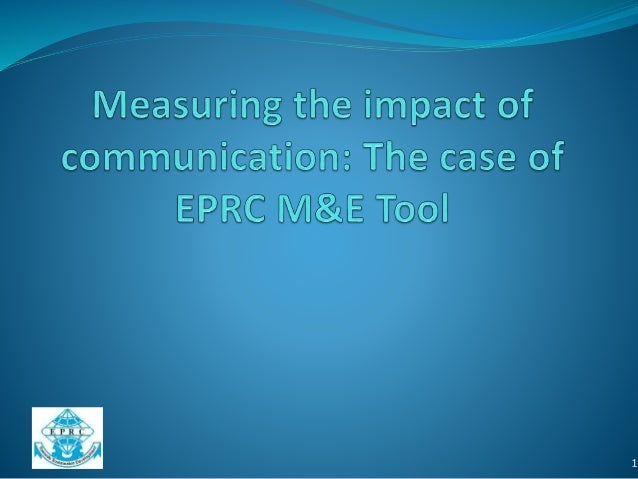 Measuring Communications Impact at EPRC