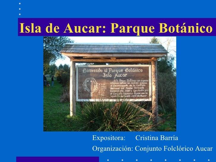 Isla de Aucar: Parque Botánico Expositora:  Cristina Barría Organización: Conjunto Folclórico Aucar