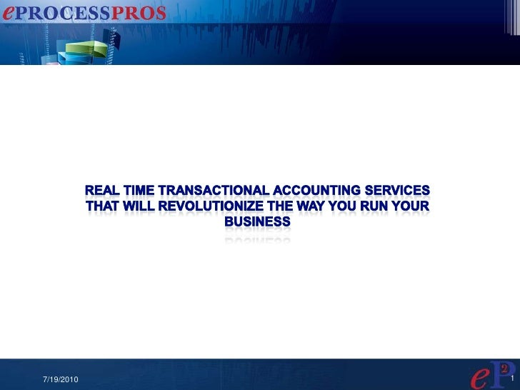 Real Time Transactional Accounting Services<br />That will revolutionize the way you run your Business<br />