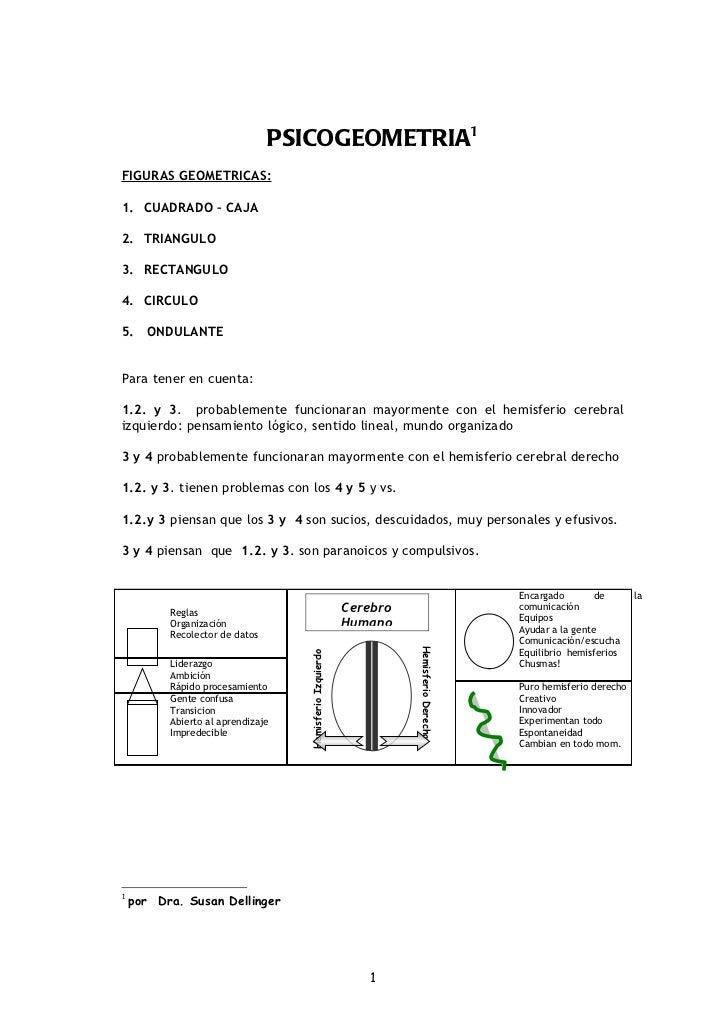 PSICOGEOMETRIA1FIGURAS GEOMETRICAS:1. CUADRADO – CAJA2. TRIANGULO3. RECTANGULO4. CIRCULO5. ONDULANTEPara tener en cuenta:1...