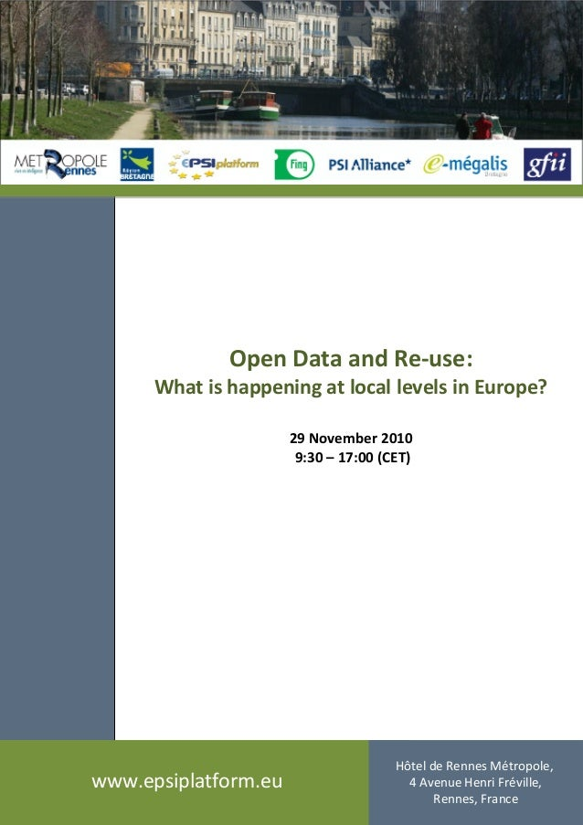 Open Data and Re-use : what is happening at local levels in Europe?