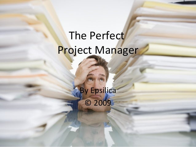 The Perfect Project Manager By Epsilica © 2009