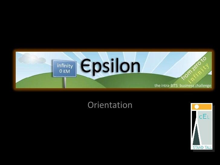 Epsilon Orientation