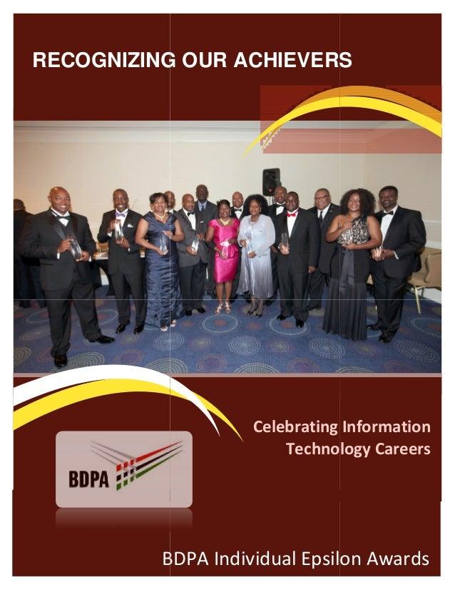Nomination Form: BDPA Individual Epsilon Awards (2014)