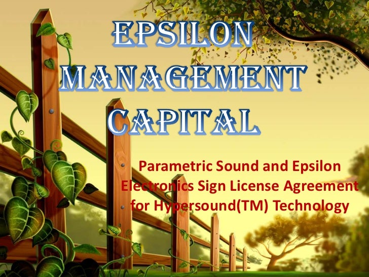 Parametric Sound and EpsilonElectronics Sign License Agreement for Hypersound(TM) Technology