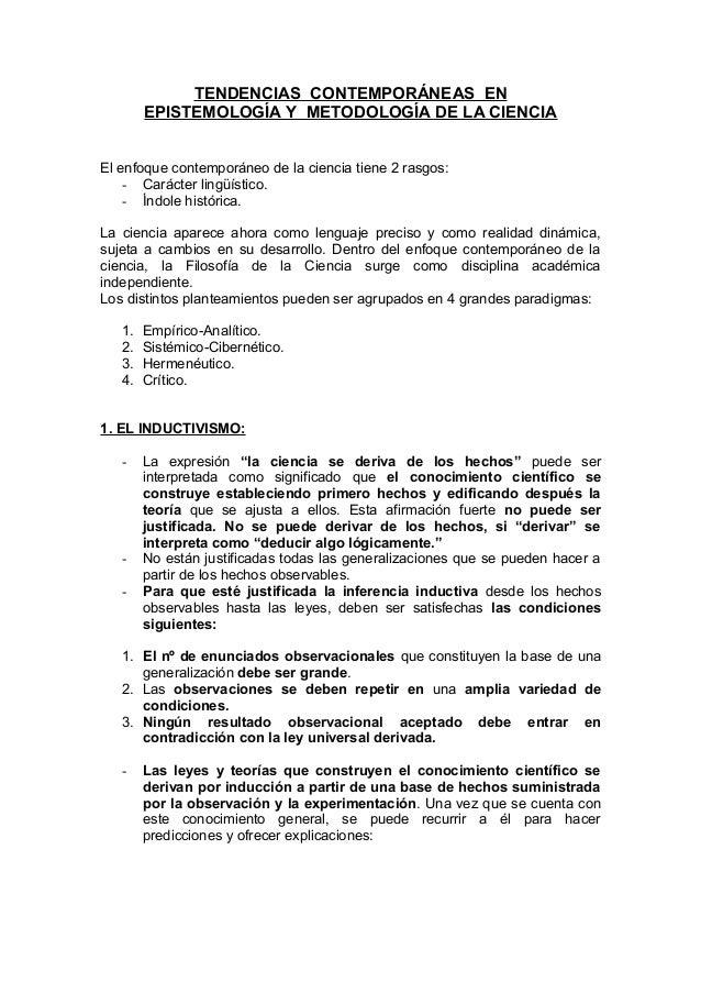 Epsitemologia de la ciencia (resumen)