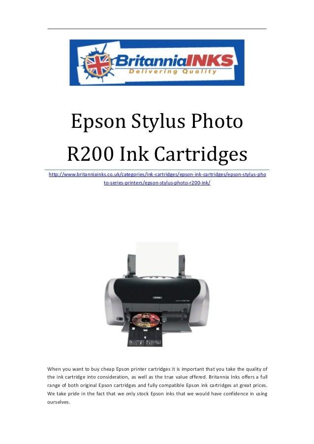 Epson stylus photo r200 ink cartridges